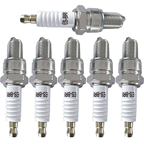 (SCITOO Compatible with Spark Plugs BR8ES Standard Resistor Spark Plug-6PCS)