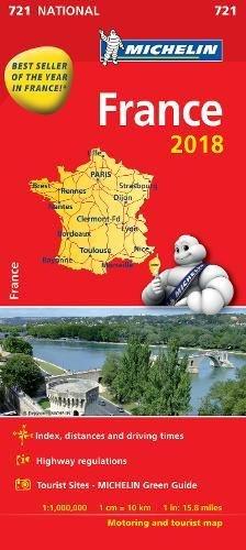 France 2018 National Map 721 2018 (Anglais) Carte – Carte pliée, 8 janvier 2018 Michelin Michelin Maps 2067226541 Karten / Stadtpläne
