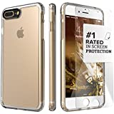 iPhone 7 Plus Case, (Clear) SaharaCase Protective Kit Bundle with [ZeroDamage Tempered Glass Screen Protector] Rugged Protection Anti-Slip Grip [Shockproof Bumper] Anti-Scratch Back Slim Fit - Clear