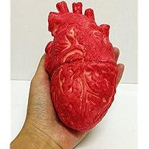 sea-junop Halloween Horror Prop Bloody Zombie Food Fake Human's Heart Body Part Organ-Red