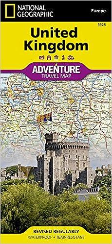 United Kingdom National Geographic Adventure Map National - United kingdom map