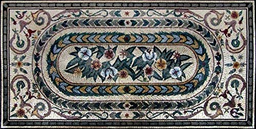 Mozaico Flowers Mosaic Rug   Mosaic Designs   Mosaic Artwork   Mosaic Wall Art Handmade Mosaics   63