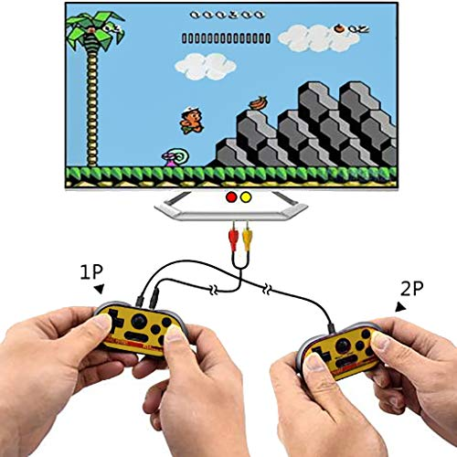 Bit 128mb 128 - 128MB Internal Memory Handheld Doubles Game Console,Hongxin 8 bit Video Game Console Built-in 260 Free Games TV Out (Black)