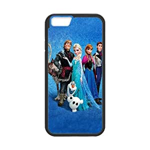 Frozen Cartoon iPhone 6 Plus 5.5 Inch Cell Phone Case Black TPU Phone Case SV_227216