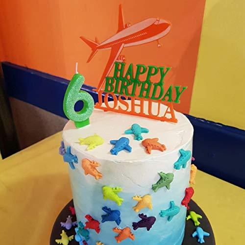 Sensational Personalised Any Name Age Airplane Cake Topper Aeroplane Happy Funny Birthday Cards Online Necthendildamsfinfo