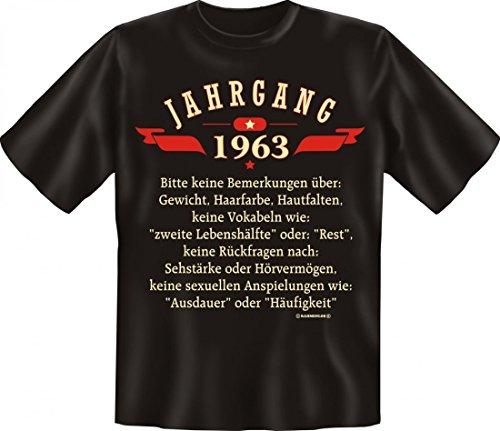 Birthday Shirt - Jahrgang 1963 - Lustiges T-Shirt als Geschenk zum Geburtstag - Schwarz