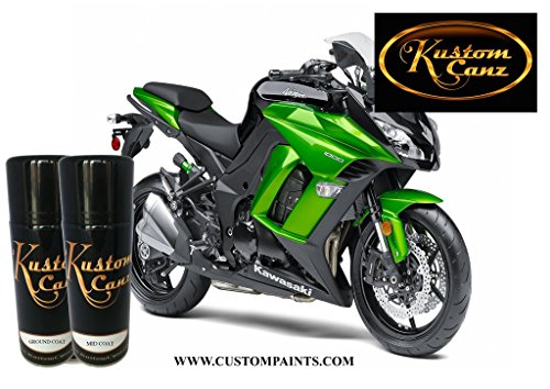 Kawasaki Candy Lime - Aerosol can Three Stage Color Price includes Ground Coat & Mid Coat, Paint Code 8N