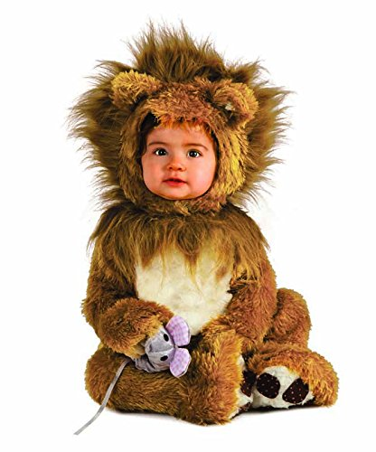 Halloween Girl 12 Month Costumes (Rubie's Costume Co Unisex-baby Infant Noah Ark Lion Cub Romper, Brown/Beige, 12-18)