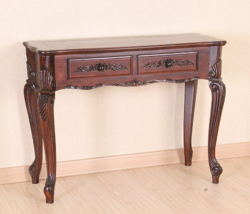 Hand Carved Indoor Wood Console Table