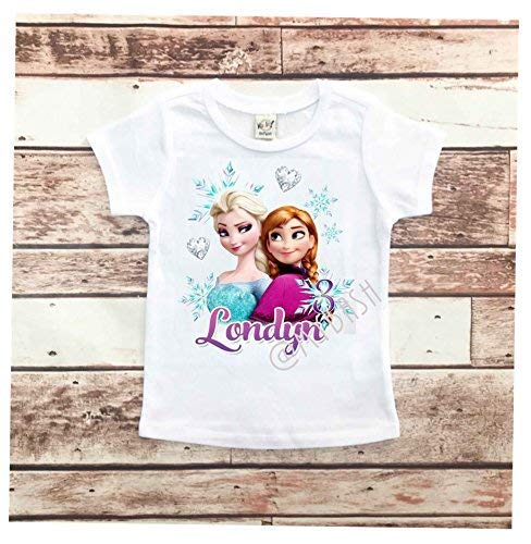 Personalize FROZEN Birthday T-Shirt - Birthday Outfit - w/Name & Age -