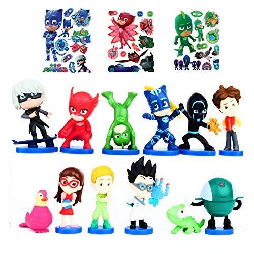 ToysOutletUSA PJ Masks Figures Toys 12 Pcs- Great Cake Topper Decorations 2 - 2.5