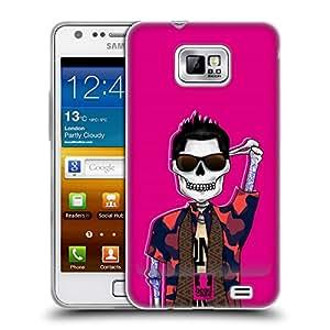 Head Case Designs Tattooed Hunk Swank Skulls Soft Gel Back Case Cover for Samsung Galaxy S2 II I9100