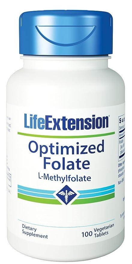 El folato optimizado, 1000 mcg, 100 Tabs Veggie - Extensión de la Vida