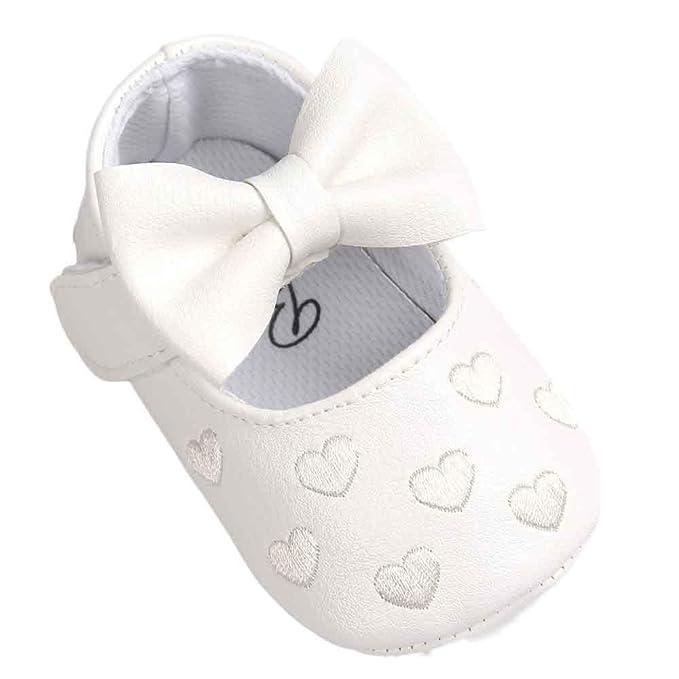 Zapatos de bebé ❤️Xinantime ♡Zapatos Bebe♡ Niña Bowknot Zapatos de Cuero Zapatillas Antideslizante Suave niño único para 0-18 Meses: Amazon.es: Ropa y ...