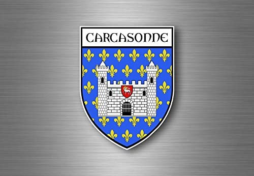Sticker decal souvenir car coat of arms shield city flag bergen norway
