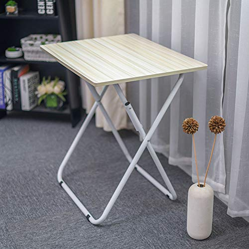 NEYIUIA Computer Desks for Small Spaces Multifunction Foldable Sofa Table Living Room Simple Floor-Standing Laptop Stand, Study Table/Dining Table/Office Desk,Maple