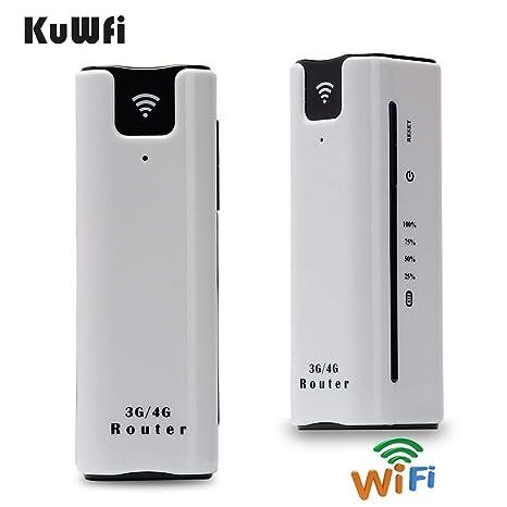 Amazon.com: kuwfi Smart Moblie WiFi 3 G Router con tarjeta ...