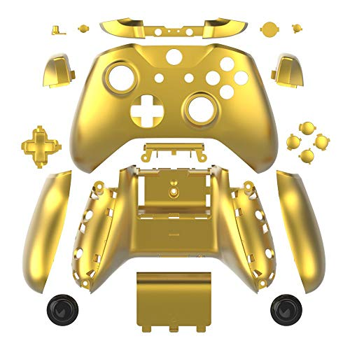Full Housing Shell Plating Case LB RB Buttons for Xbox One S Controller (Gold) (Xbox One Controller Full Shell)