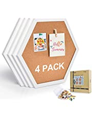 AkTop Cork Bulletin Board Hexagon 4 Pack