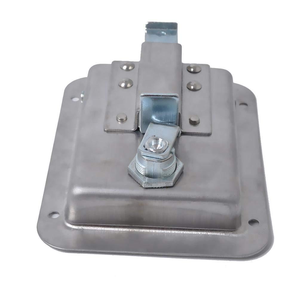 Chengstore Car Stainless Steel Trailer Toolbox Lock Door Lock in-Line Lock Tool Tear Drop Latch Stainless Steel Box Lock Stainless Steel Paddle Latch by Chengstore (Image #3)