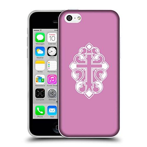 GoGoMobile Coque de Protection TPU Silicone Case pour // Q09210618 Croix chrétienne 31 Bronze // Apple iPhone 5C