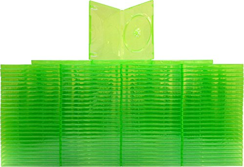 - (100) Empty Standard XBOX 360 Translucent Green Replacement Games Boxes / Cases #VGBR14XBOX