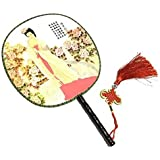 Attractive Chinese Round Fan Classical Dancing Dan With Beautiful Pattern, #20
