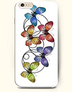 OOFIT New Apple iPhone 6 ( 4.7 Inches) Hard Case Cover - Butterfly Flying together wangjiang maoyi