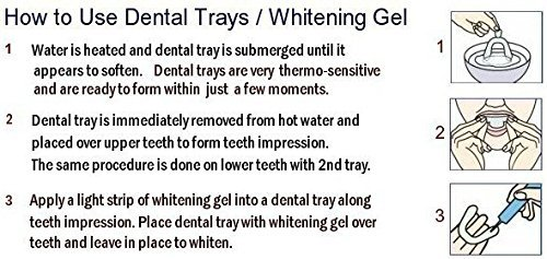 New Teeth Whitening Kit With Blue Led Light System 3 Gel