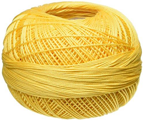 Lizbeth Cotton Thread, 25gm, Medium Golden Yellow (Yellow Cotton Crochet Thread)