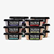 MUSH Overnight Oats Healthy Breakfast, Gluten-Free, Dairy Free, Protein Rich, No Sugar, 12 Pack Oatmeal Cups,