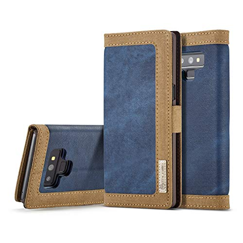 - Samsung Galaxy Cases [Denim Series Wallet Case] Agiotage Canvas Denim Thumb Folio Protective Case with Stand for Samsung Galaxy Note 9 (Color : Blue)