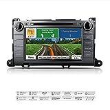 AIMTOM AMN-1906-MB 2011-2014 Toyota Sienna In-dash GPS Navigation Stereo FM AM Radio Bluetooth DVD CD Deck 8'' Touch Screen Head Unit AV Receiver USB SD Multimedia Player w/ Copyrighted iGo Primo Maps