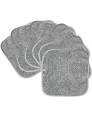 Polyte Premium hypoallergeen chemisch vrij microvezel make-up remover en gezichtsreinigingsdoek 6 Pack (20x20 cm, grijs)
