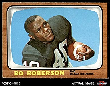 info for 48e63 c9f1e Amazon.com: 1966 Topps # 83 Bo Roberson Miami Dolphins ...
