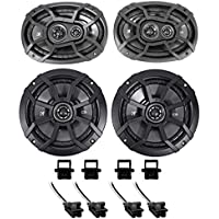 2000-13 Chevrolet Chevy Impala Kicker Front+Rear Factory Speaker Replacement Kit