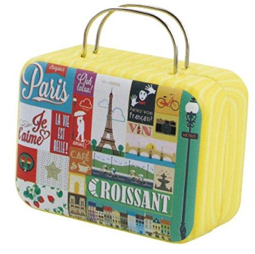 Rétro Forme Valise Petite en Candy carré Fer Métal Sac Boîte Boîte Plsonk en Rangement de Thé de U46wg