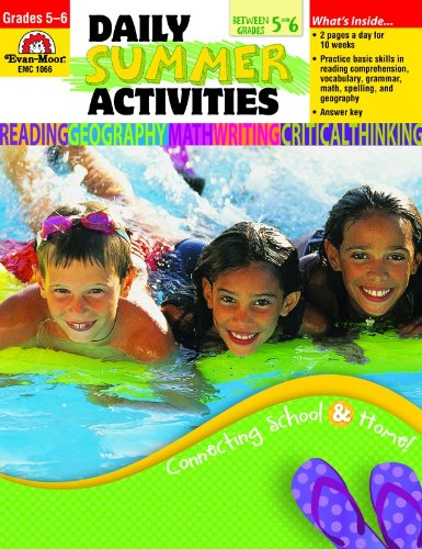 Evan-Moor Daily Summer Activities: Moving from 5th to 6th Grade Activity Book; Well-Balanced Outside the Classroom Learning Resource Workbook