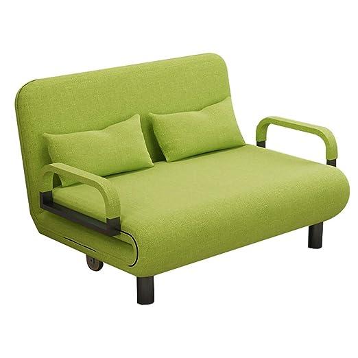 Gaoxu Verde 2 En 1 Sofá Cama, Silla Plegable Plegable del ...