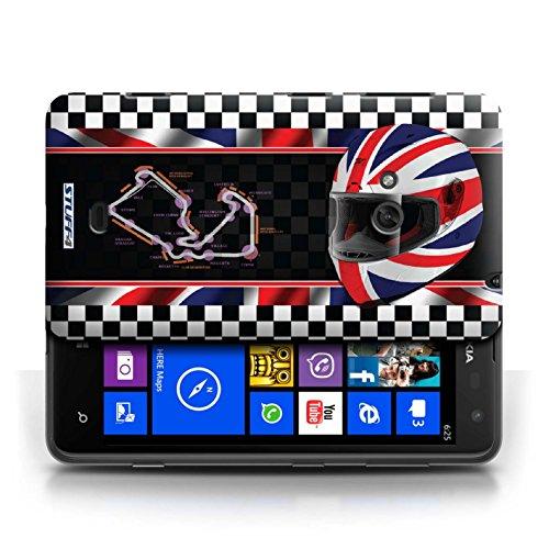 Etui / Coque pour Nokia Lumia 625 / UK/Silverstone conception / Collection de F1 Piste Drapeau