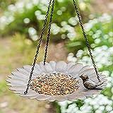 A Ting Metal Hanging Bird Feeder for Garden Decorative