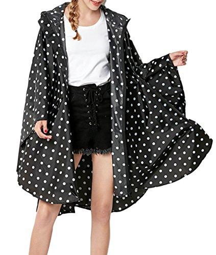 - Buauty Womens Hooded Zip up Waterproof Active Outdoor Rain Jacket Raincoats Lightweight Poncho