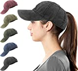 Womens Ponytail Messy High Buns Mesh Trucker Ponycaps Plain Baseball Visor Cap Dad Hat Adjustable Snapback