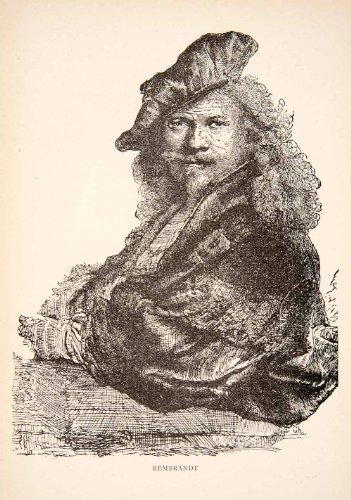 1900-print-portrait-costume-rembrandt-van-rijn-painter-dutch-etcher-artist-relief-line-block-map
