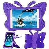 ipad 2 case for girls - Xboun Butterfly Series EVA Shock Proof Protective Case for Apple iPad Mini 1/Mini 2/ Mini 3 - Purple