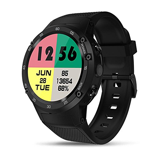 Auto-cute Zeblaze SmartwatchTHOR 4 4G LTE GPS Android, Wrist Watch Heart Rate Wrist GPS Watch Memory 1.39 Inches 1 + 16 GB Suitable for Boys, Gifts