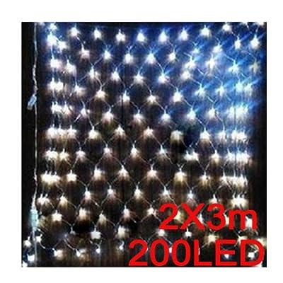 Vktech 2mx3m 200 LED Web Net Fairy White Light for Christmas Wedding Party Garden Xmas