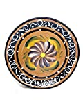 NEW! Gorgeous Hand-Crafted Authentic Mexican Accent Plates With Flower Design (Set Of 5) (Plato De Barro)