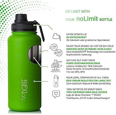 720 dgree botella de acero inoxidable 530ml Thermo con gratis Sport tapa nolimit