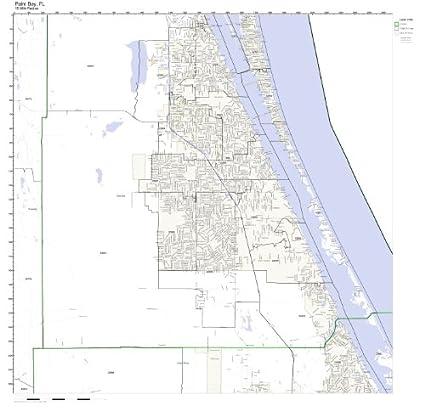 Palm Bay Florida Zip Code Map.Amazon Com Palm Bay Fl Zip Code Map Not Laminated Home Kitchen